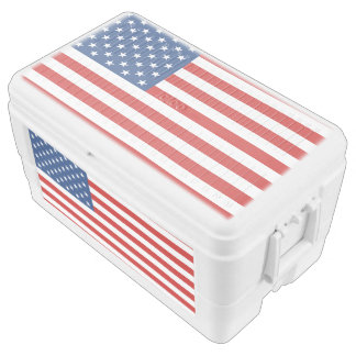 American Flag Chest Cooler