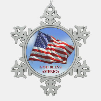 American Flag Christmas Ornament God Bless America
