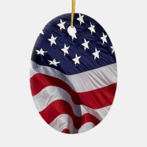 American flag christmas tree ornament zazzle