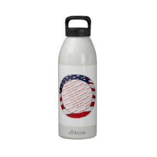 American Flag Circle Photo Frame Reusable Water Bottles