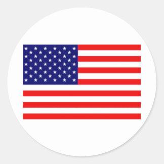 American Flag Classic Round Sticker