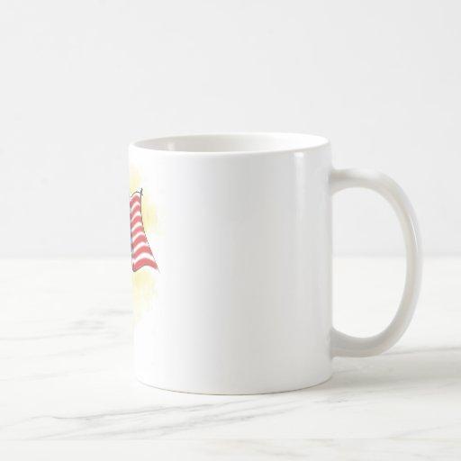 american flag classic white coffee mug