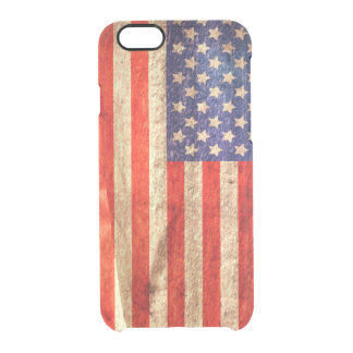 American Flag Clear iPhone 6/6S Case