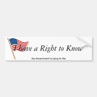 american-flag-clip-art-waving-waves, I have a R... Bumper Sticker