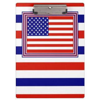 American Flag Clip Board Clipboards