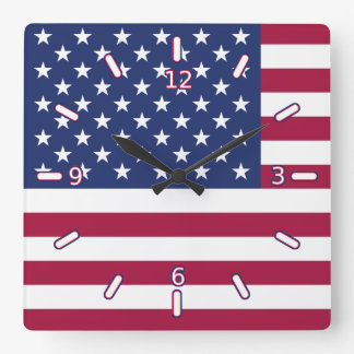 American Flag Clock (With Numbers)