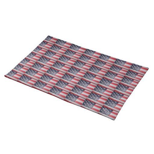 American Flag Cloth Place Mat