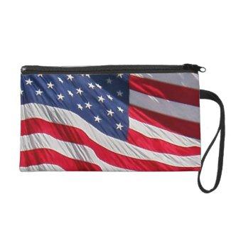 American flag clutchs wristlet