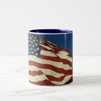 American flag coffee cup