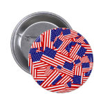 American Flag Collage 2 Inch Round Button