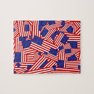 American Flag Collage Jigsaw Puzzle