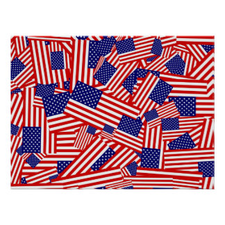 American Flag Collage Poster