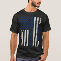 American Flag Colorectal Colon Cancer Awareness T-Shirt