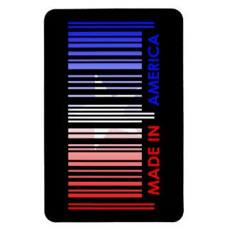 American Flag Colors Bar Code Design Rectangular Photo Magnet