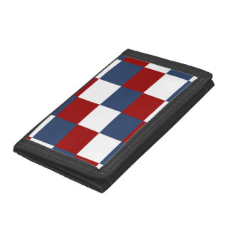 American Flag Colors Trifold Wallets