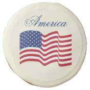 American Flag Cookies Sugar Cookie at Zazzle
