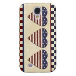 American Flag Country Hearts Patriotic Galaxy S4 Case