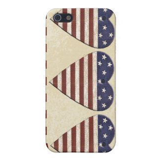 American Flag Country Hearts Patriotic Cover For iPhone 5