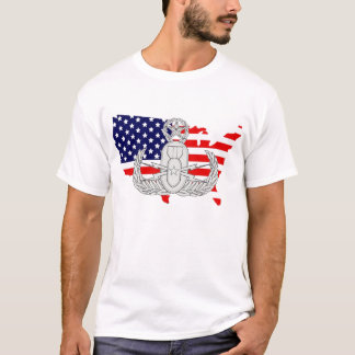 American Flag Country w/EOD Badge T-Shirt