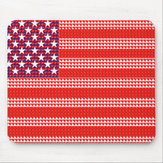 American Flag Created with Small Hearts Mouse Pad