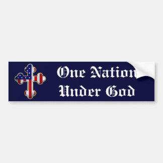 American Flag Cross2 Bumper Sticker