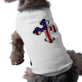 American Flag Cross2 Dog Clothing