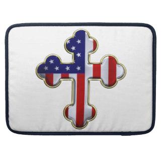 American Flag Cross2 Sleeve For MacBook Pro