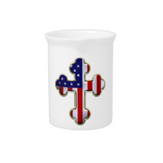 American Flag Cross2 Pitcher