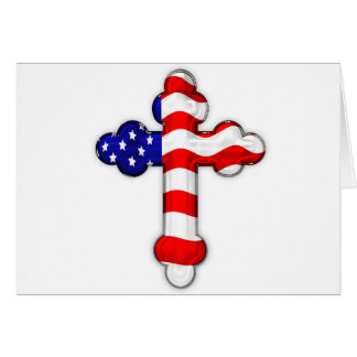 American Flag Cross Card