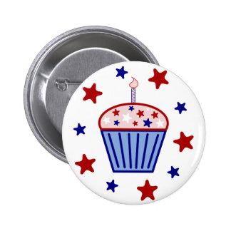 American Flag Cupcake Button