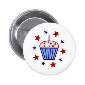 American Flag Cupcake Buttons