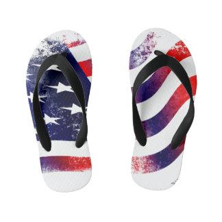 AMERICAN FLAG Custom Flip Flops, Kids Kid's Flip Flops