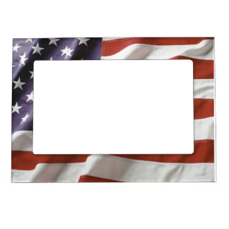 American Flag - custom magnetic picture frame