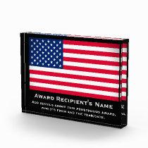 American Flag Custom Personalized Acrylic Award