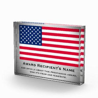 American Flag Custom Personalized Acrylic Award