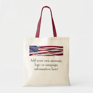 American Flag Customizable Bag