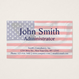 American Flag customizable Business Card