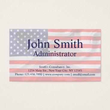 USA Themed American Flag customizable Business Card