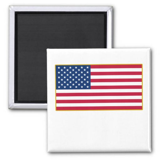 American Flag Customizable Products 2 Inch Square Magnet