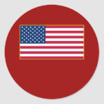 American Flag Customizable Products Classic Round Sticker