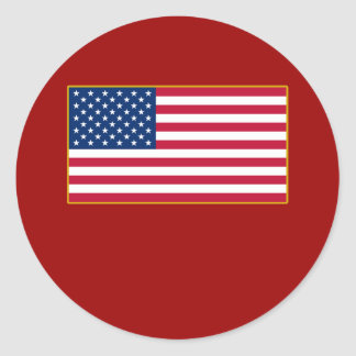 American Flag Customizable Products Sticker