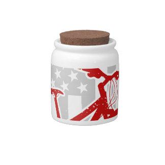 American Flag Cycling T-Shirt Candy Jar