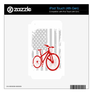American Flag Cycling T-Shirt iPod Touch 4G Skin