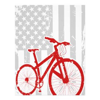 American Flag Cycling T-Shirt Letterhead