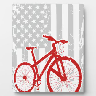 American Flag Cycling T-Shirt Plaque