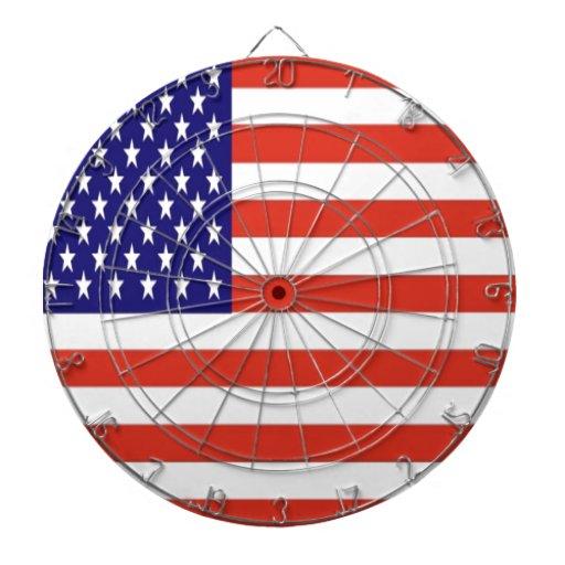 American flag dartboard
