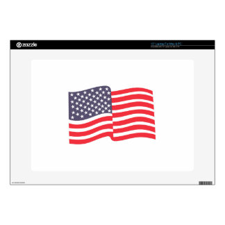 "American Flag Decals For 15"" Laptops"