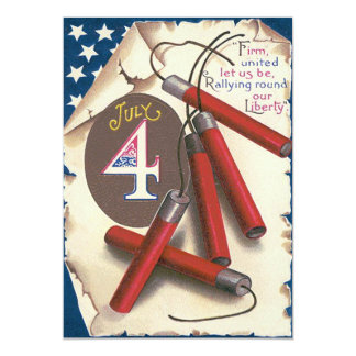 American Flag Declaration of Independence Firework Card