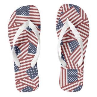American Flag Design Flip Flops