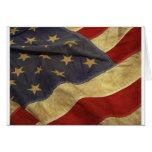 American flag design greeting cards